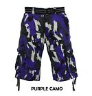 Men's FOCUS Army Camo Cargo Shorts Sizes: 30 - 44 <br/> AMERICAN FLAG, AZTEC, CAMO AND DIGITAL CARGO SHORTS