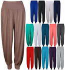 Womens Plain Long Ali Baba Harem Ladies Baggy Trousers Pants Leggings Plus Size