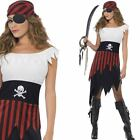Pirate Wench Costume - Ladies Sexy Film Character Caribbean Fancy Dress Outfit