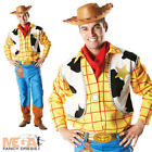 Toy Story Woody + Hat Mens Fancy Dress Disney Western Cowboy Adults Costume New