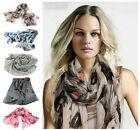 Cotton Begonia Flower Print Fashion Ladies Long Large Scarf Wrap Shawl Trendy
