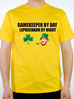 GAMEKEEPER BY DAY LEPRECHAUN - Birds / Shooting / Novelty Themed Mens T-Shirt