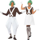 Adult Umpa Lumpa Factory Worker Oompa Loompa Fancy Dress Wig Costume Ladies Mens