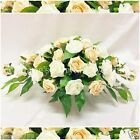 SILK WEDDING FLOWERS LARGE TOP TABLE ARRANGEMENT FOAM ROSES CHAMPAGNE & IVORY