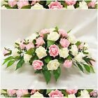 WEDDING FLOWERS LARGE TOP TABLE ARRANGEMENT SILK FOAM ROSES LIGHT PINK & IVORY