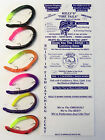 Kelly's Firetail Pre-Rigged Scented Plastic Bass Worm - 6 Ct or 1 Doz - 6 Colors