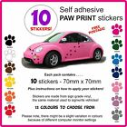 10 new dog paw print stickers cats paws dogs puppy puppies cat kitten car