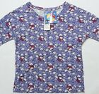 UNIQLO WOMEN SANRIO 3/4 SLEEVE GRAPHIC T-SHIRT Purple (075426)