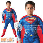 Deluxe Superman Man of Steel Boys Muscle Fancy Dress Kids Superhero Costume 3-8