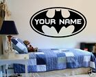 BATMAN DECAL PERSONALIZED * NAME SUPER HERO WALL STICKER CHILDS JOKER ROBIN KIDS