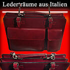Aktentasche Laptoptasche Businesstasche Schultertasche Leder Made in Italy S003