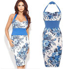 Ladies Women Celebrity Inspired Amy Childs Floral Flower Print Bodycon dress