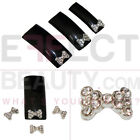 3D Metal Nail Art Bows with Rhinestone | Fast, Free UK Post | L68