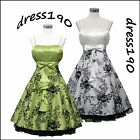 dress190 FLOCK TATTOO ROCKABILLY COCKTAIL VINTAGE PARTY PROM DRESS UK Size 8-24