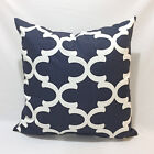 "Navy Blue Gotcha Floral, stripe 18x18"" inch Home Accent Pillow Cover Pillow Case"