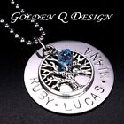Personalised Stainless Steel Family Tree Of Life Necklace Valentine's Gift D101