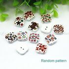 Multicolor Wooden Buttons Craft Buttons Fit Sewing Scrapbook Assorted Button New