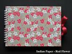Hand Made Indian Paper Scrap Book / Guest Book / Photo Album - A5 / A4, 20 pages