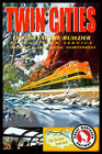 TWIN CITIES  - Great Northern-EMPIRE BUILDER Railroad Train Poster-Art Print048