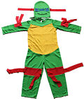New Mutant Ninja Turtles Children Kids Superheroes Costume Dress Up Size2-6