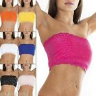 New Floral French Lace Stone BoobTube Bra Bandeau Crop Top Size 8 10 12 14 16