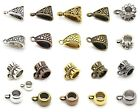 Hanger Slider Bail Beads European Charm Silver Gold Bronze Copper Gunmetal Black
