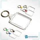 Blank Keyring w/ Linking Ring for Business Promotion/Gifts Plastic 45x35mm -A502