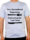 I'M A SECONDHAND VEGETARIAN - Food / Meat / Fun / Novelty Themed Men's T-Shirt