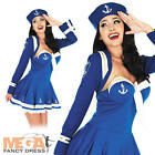 Blue Flirty Sailor Captain Fancy Dress Uniform Costume Ladies Outfit UK 6-22
