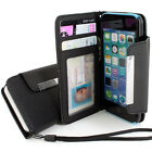 For Apple iPhone 5C Flip Wallet Hybrid PU Leather Case Pouch w/Strap Accessory