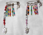 Personalised Knitting / Crochet Stitch Markers Craft Bag Charm & 5 Stitch Marker