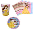 Beauty And The Beast Birthday Party Supplies Plates Napkins & Cups Set for 8/16