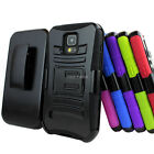 For Samsung Galaxy S5 Active G870 Rugged Hybrid Hard Case Belt Clip Holster