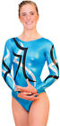 NEW! Electricity A Turquoise Gymnastics Competition Leotard by Snowflake Designs
