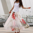 Ladys Women Big Hem Elegant BoHO Lotus Leaf Summer Chiffon Maxi Long Skirt