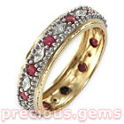 9ct Yellow & White Gold Ruby & Diamond FULL Eternity Ring