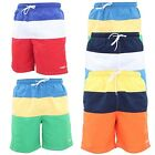 NEW  MENS MESH LINED TWO TONE SUMMER HOLIDAY BEACH SWIM SHORTS S-XL