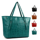 New Fashion Women Large Tote Faux Leather Hobo Shoulder Bag Purse Ladies Handbag