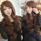 womens fashion weave curly wavy long hair wig cosplay party full wigs+wig cap
