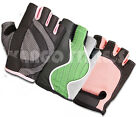 UNISEX CYCLI PADDED LEATHER GLOVES BICYCLE BIKE CYCLE GYM FITNESS WEIGHT LIFTING