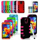 For Samsung Galaxy S5 SV Rugged Dual Layer Shake-proof Case Cover 5 in 1 Package