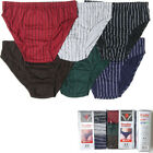 6 12 Knocker Mens Striped Bikinis Briefs Boxer Underwear Small Medium Large XL