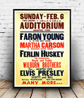 Elvis Presley concert  : Old Advertising Poster reproduction