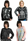 NEW GOTH TOP SWEATSHIRT JUMPER OCCULT OUIJA DARK PUNK ROCK LONG SLEEVE 666