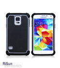 TPU Inner Tactile Anti-Slide Grey Skin Case & screen protector for Samsung S5