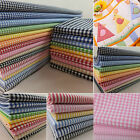 """100% cotton 1/16"""" 1/8"""" gingham check stripes fabric yarn dyed by the metre"""