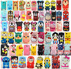 3D Cartoon Silicone Cover Case For Samsung Galaxy Note2 / 3 / 4 S3 / S4 i9500 / S5 i9600