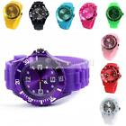 Candy Color Unisex Jelly Crystal Mens Womens Rubber Silicone Analog Wrist Watch