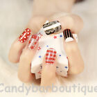 *NEW* Self-Adhesive Quirky Fun Nail Wrap Art Stickers Foil/Nail Tip Polish Strip