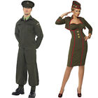 Unisex Couples 1940s Fancy Dress - Womens Mens Army Officer + Home Guard Costume